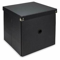 """Samsill PNS17LSBK Pop N Store 11"""" Cube Box Blk"""