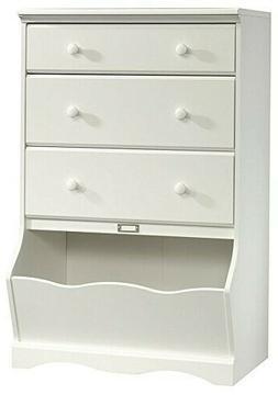 Sauder Pogo 3-drawer Chest with Bin Storage -- Soft White, N