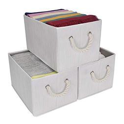 StorageWorks Storage Bins Closet with Cotton Rope Handles, F