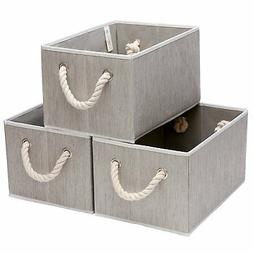 StorageWorks Polyester Storage Box with Strong Cotton Rope H