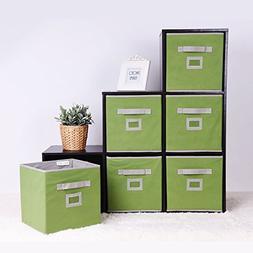 StorageWorks Storage Cube Box, Fabric Storage Bin By, Green,