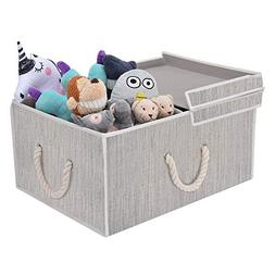 StorageWorks 65L Storage Box Cloth Box with Double-Open Lid