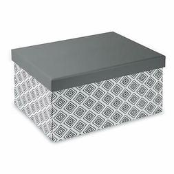 Pop n' Store Decorative Storage Box with Lid - Collapsible a