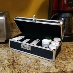 portable cd file medicine storage case box