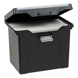 PORTABLE FILE STORAGE BOX Home Office Handle Letter Size Lid