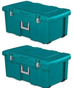 Portable Storage Box Footlocker Tool Chest Organizer Bin Con