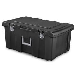 Portable Storage Box Footlocker Tool Chest Organizer Bin Con