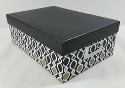 Postcard Photo Storage Box Darice Decorative Black Gray Glob