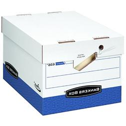 Bankers Box PRESTO Heavy-Duty Storage Boxes with Ergonomic H