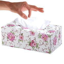 YJY PU Leather Tissue Holder Box Cover - Decorative Kleenex