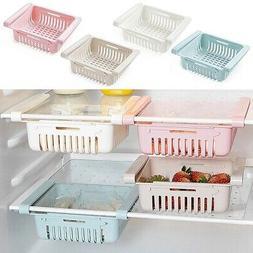 Pullout Refrigerator Storage Box Holder Food Organizer Drawe