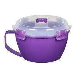 Sistema Purple Klip It Microwave Noodle Pasta Soup Bowl 940m
