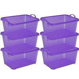 Life Story Purple Stackable Closet & Storage Box 55 Quart Co