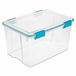 Sterilite 19344304 54 Quart/51 Liter Gasket Box, Clear with