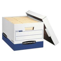 R-Kive Max Storage Box, Letter/Legal, Locking Lid, White/Blu
