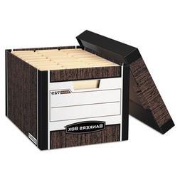 R-Kive Max Storage Box, Letter/Legal, Locking Lid, Woodgrain