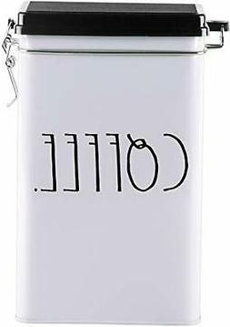 Rae Dunn Tin Storage Box With Metal Clamp Locking Lid