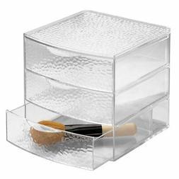 InterDesign Rain 3 Drawer Large Box, Clear