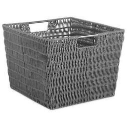 Whitmor Rattique Storage Tote, Grey