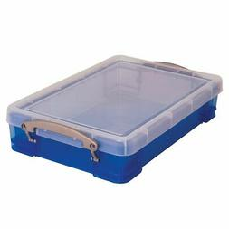 "Really Useful Box Plastic Storage Box, 14.5"" x 10.25"" x 3.25"