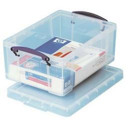 "Really Useful Box Plastic Storage Box, 9 L, 10 1/4"" x 14 1/2"
