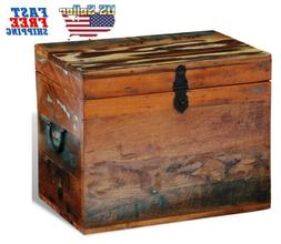 Reclaimed Multi-color Storage Organizer Box Solid Wood Pure