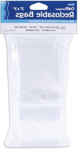 Reclosable Clear Storage Bags-2X3 100/Pkg
