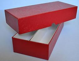 RED DOUBLE ROW STORAGE BOX FOR 2X2 CARDBOARD COIN HOLDERS  -
