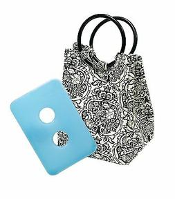 Fit and Fresh Retro Designer Lunch Bag in B Damask with Ice