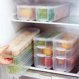 Reusable Kitchen Fridge Food Fruit Storage Container Clear P