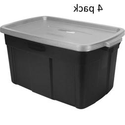 Rubbermaid Roughneck Storage Box, 18 gal, Steel Gray - Inclu