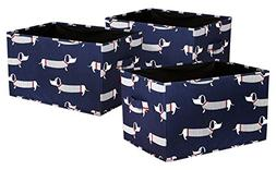 Lush Decor Sausage Dog Fabric Covered 3 Piece Collapsible St