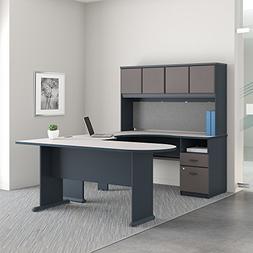 Bush Business Furniture Series A U Shaped Desk with Hutch, P