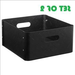 2x IKEA KALLAX Storage Box BULLIG Bamboo Home Decor 12 ½ x