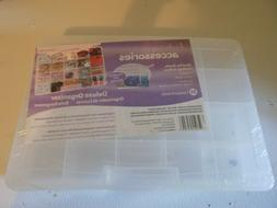 Set of 2 Fashion Accesories Deluxe Organizer Plastic Box