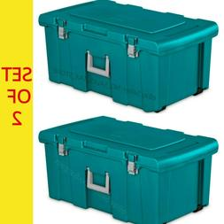Set Of 2 Footlocker Storage Box Trunk Bin Chest Organizer To