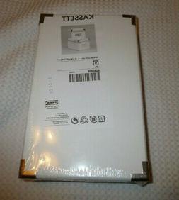 IKEA Set of 2 KASSETT Storage Boxes w Lids 6 1/4 X10 1/4 X 6