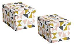 "Set of 2 - Ikea TJENA Storage Box w/Lid Home Decor 7"" x 9¾"""