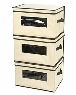 Juvale Set of 3 Foldable Storage Boxes,Documents, Household