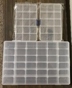 Set Of 3 Plastic Jewelry Nail Art Storage Box Craft Beads Co