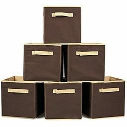 EZOWare Set Of 6 Basket Bins Collapsible Storage Organizer B
