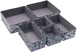 Onlyeasy Set of 6 Foldable Cloth Storage Box Closet Dresser