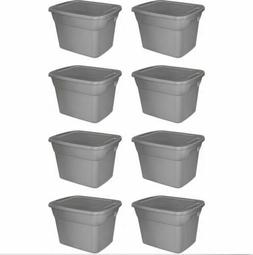 set of 8 plastic tote box 18