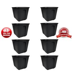 Set of 8 Storage Containers 18 Gallon Lid Snaps Durable Plas