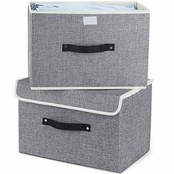 ❤ Set Of Storage Bins Meelife Two Foldable Storage Box W/