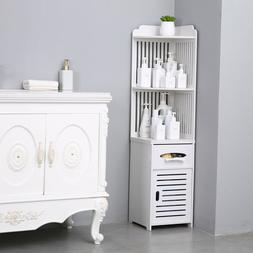 Simple Bathroom Corner Shelf Cabinet Storage Organizer Toile