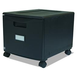 Storex Single Drawer Mini File Cabinet with Lock and Casters