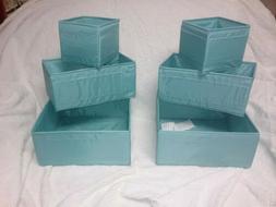 IKEA Skubb Box Set of 6 Light Blue 703.239.59 FREE SHIPPING