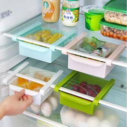 Slide Freezer Fridge Space Saver Shelf Holder Storage Box Or