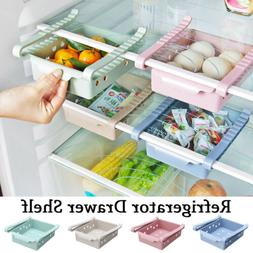 Slide Fridge Freezer Storage Box Rack Shelf Kitchen Organize